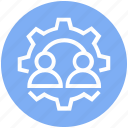 customers, gear, options, service, setting, support, users icon