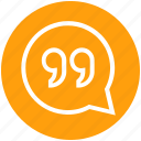 chat bubble, conversation, customer service, hangout, message, sms, support
