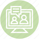 customer service, display, lcd, message, service, support, users icon