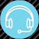 customer service, earphone, headphone, headset, help, service, support icon