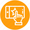 click, finger, hand, mobile, phone, service, star