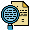 customer, glass, magnifying, information, search, service icon