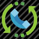 arrow, call, customer, phone, service