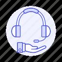 call, center, customer, hand, headphone, headset, support