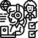 paraphrase, translate, help, center, service icon
