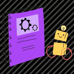 product, book, help, service, assistance, manual, robot, customer, handbook, user, support
