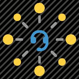 center, communication, customer, customer service, operator, service, support icon