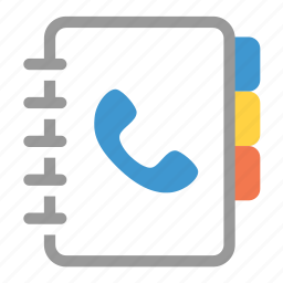 book, communication, contact, list, note, phone, telephone icon