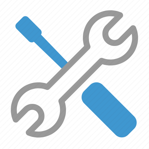 config, options, repair, service, settings, support, tools icon
