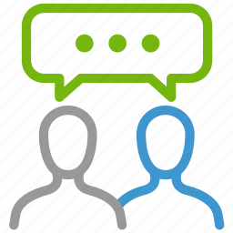 communication, language, same, speak, talk, testimonial, understand icon