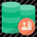 client, database, storage, customer database, database marketing, client database, customer data icon