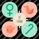 aim, client, focus, target, customer segmentation, customer target, target audience icon