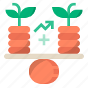 balance, finance, financial, growth, investment, stability, growth and stability icon