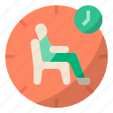 duration, wait, waiting, time, sitting, waiting time, waiting room icon