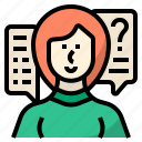 help, question, query, ask, support, asking for information, customer services icon