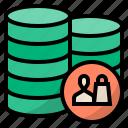 database, server, storage, customer database, client database, database marketing, customer data icon