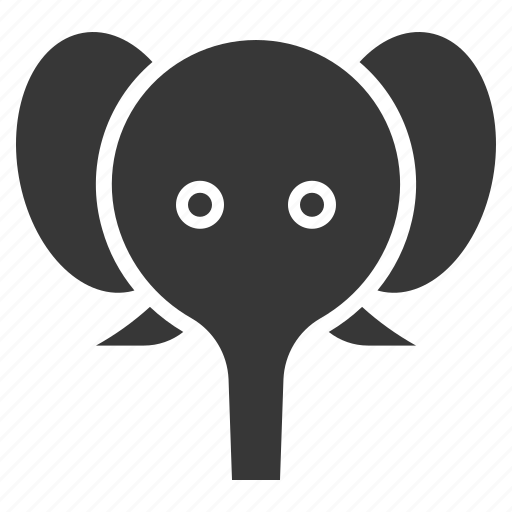 animal, elephant, face, head, wild, zoo icon