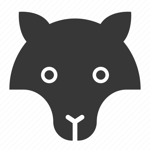 animal, face, fox, head, wild, zoo icon