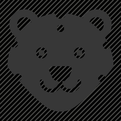 animal, face, head, leopard, wild, zoo icon