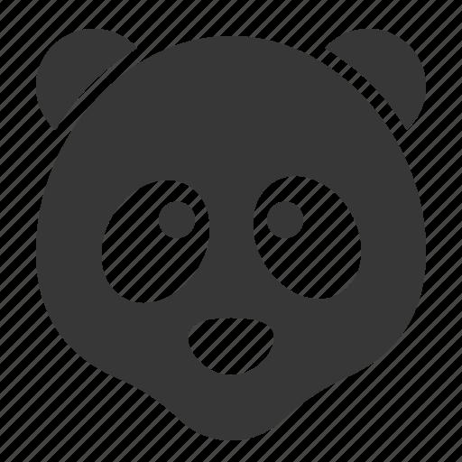 animal, face, head, panda, wild, zoo icon