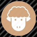 animal, face, farm, head, sheep, zoo icon