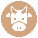 animal, cattle, cow, face, farm, head, zoo icon