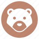 animal, bear, face, forest, head, wild, zoo icon