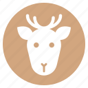 animal, deer, face, head, wild, zoo icon