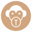 animal, face, head, monkey, wild, zoo icon