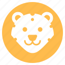 animal, face, forest, head, leopard, wild, zoo icon