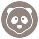 animal, face, head, panda, zoo icon