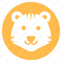 animal, face, head, tiger, wild, zoo icon