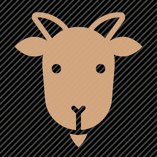 animal, face, goat, head, wild, zoo icon
