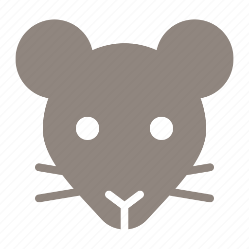 animal, face, head, mouse, rat, zoo icon