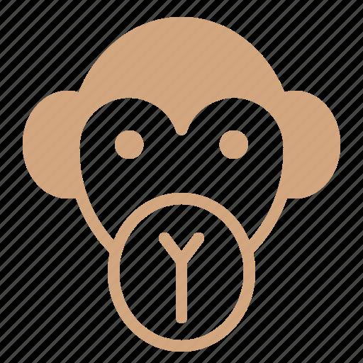 animal, face, head, monkey, wild, zoo icon