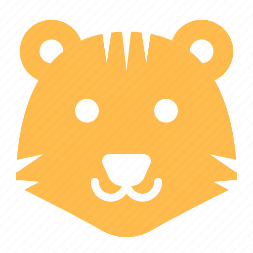 animal, face, head, tiger, wild, zoo icon