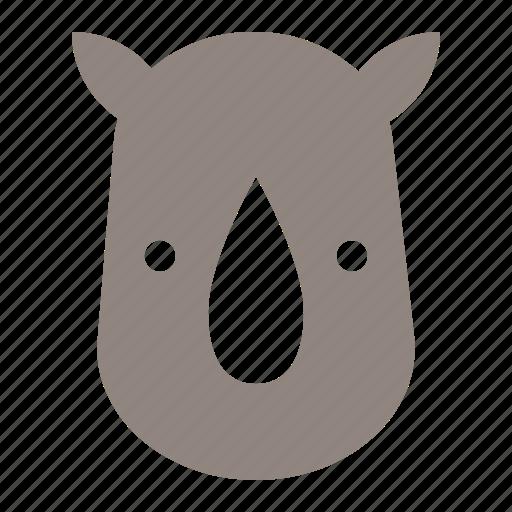 animal, face, head, rhino, wild, zoo icon