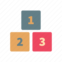 baby, blocks, cube, game, number, play, toy icon