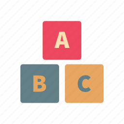 alphabet, baby, blocks, cube, game, play, toy icon