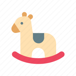 animal, baby, horse, play, rocking, toy, wooden icon