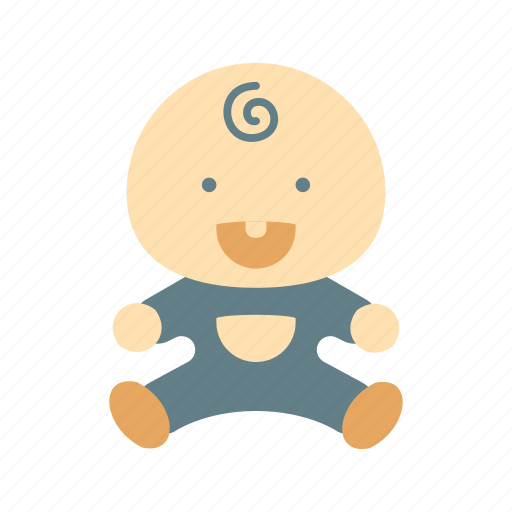 baby, blue, boy, cute, hair, laugh, smile icon