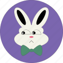 +face, animal, bunny, cute, rabbit icon, sad face, sad rabbit icon