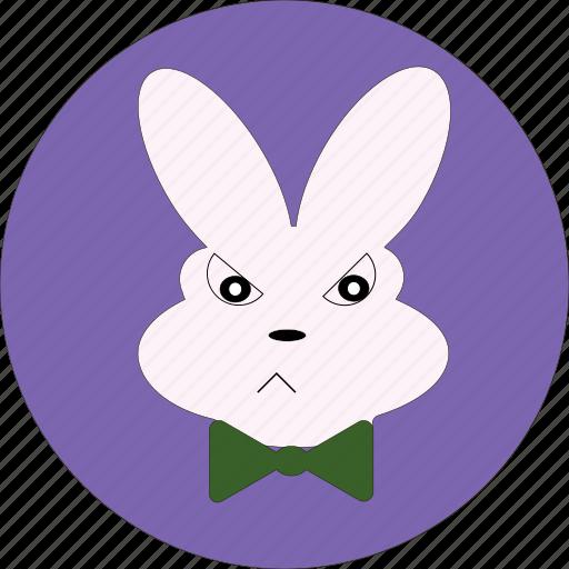 animal, bunny, bunny face, cute, easter, rabbit face, rabbit wink icon
