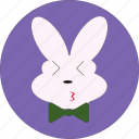 bunny, cute, kiss bunny, kiss face, rabbit kiss icon