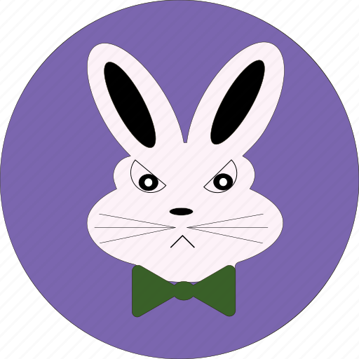 angry face, angry rabbit, bunny, cartoon, cute, easter icon