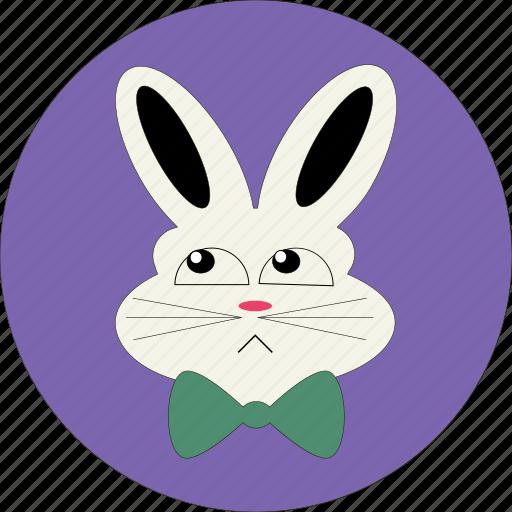 bunny, cute, rabbit face, rabbit icon, sad rabbit icon