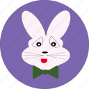 animal, bunny, cute, easter, rabbit, rabbit face, rabbit symbol icon