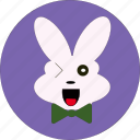 +easter, +rabbit icon, bunny, cute, rabbit, rabbit wink icon