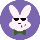 bunny, cute, rabbit eotion, rabbit face, smiley icon