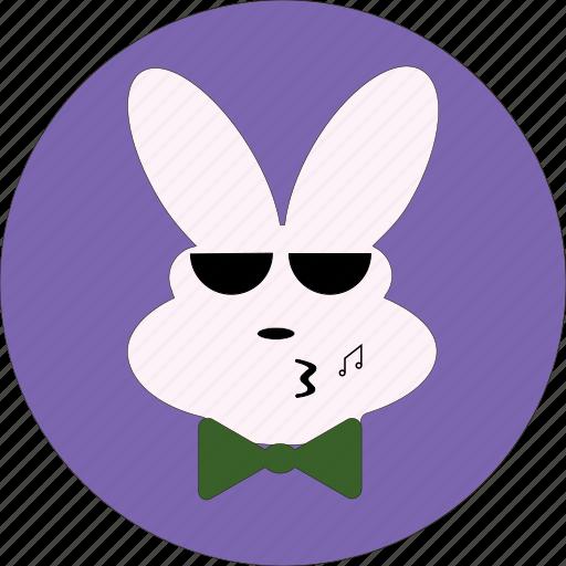 bunny, cute, rabbit eotion, rabbit face, smiley icon